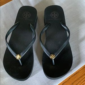Tory Burch Wedge Flip Flops , size 7